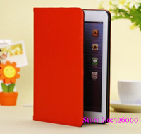 Free shipping Multi-Color PU Leather Smart Magnetic Cover+Hard Back Case Shell,Scrub Back Case For iPad Mini