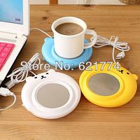 Portable Bear Style USB Electronic Gadgets Novelty Powered Cup Mug Warmer Cushion Coffee Tea Drink Heater Tray Pad Free Shipping