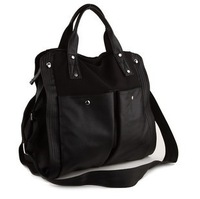 Free Shipping 2014 New Fashion Large Capacity Canvas PU Women Travel Bags Hand Bag Black Shoulder Messenger Bag On Sale