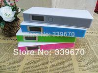 12000mah lcd external power bank 5v 2a 18650 battery charger + usb cable UPS free shipping wholesale 50pcs/lot