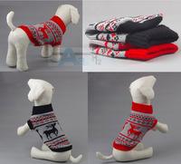 Dog Clothes Multi-color Aran Knit Dog Coat Soft Cozy Pet Sweater  D6