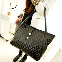 2013 autumn and winter women's handbag fashion embroidery plaid bubble bag shoulder bag handbag large bag
