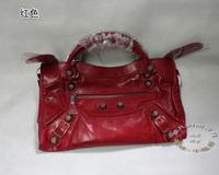 Big rose gold nails Medium 38cm motorcycle bag one shoulder bolsas genuine leather bags girls designer branded handbags
