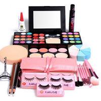 Hot Valentine's day Gift Set Brushes Eyelashes Curler Eyeshadow Lipstick Mascara Powder WB Makeup set