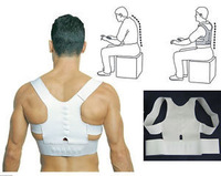 Details about  Magnetic Posture Support Corrector Back Pain Feel Young Belt Brace Shoulder #zl