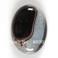g2896 30mm Black drusy druzy agate oval cab cabochon 10pcs/lot