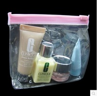 FREE SHIPPING  zipper plasitc clear pvc package bag transparent pvc gift bag cosmetic pouch