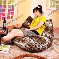 FREE SHIPPING leopard print bean bag chairs loveseat modern sofa chair velvet love seats bean bag furniture Double Sofa