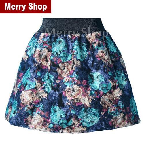Free Shipping 2014 New Arrival Fashion Women's Flannel Skirt Women Winter Plaid MiNi Skirt Floral / Plaid / Leopard Pattern(China (Mainland))