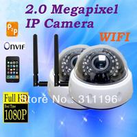 2.0 MP Full HD 1080P WIFI IR Dome IP CCTV Camera P2P Cloud Onvif Webcam indoor Dome Security Video Camera