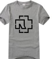 Rock band Men's short sleeve T-shirt Rammstein The German tanks Pure cotton Round collar Summer wear music