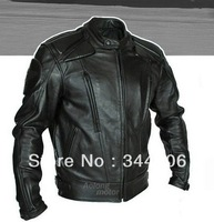 Free shipping 2013 New Cool HOT PU mandarin collar Men's Black Solid Leather Motorcycle Biker Jacket. Sizes S To XXL