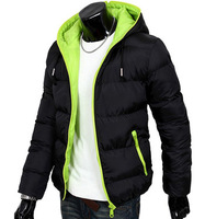 2013 Man's winter jacket men's hooded wadded coat winter thickening outerwear male slim casual cotton-padded outwear W1098