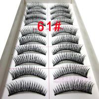 free shipping New 10 Pair Thick Long False Eyelashes 061 Eyelash Eye Lashes Voluminous Makeup tools cheap wholesale