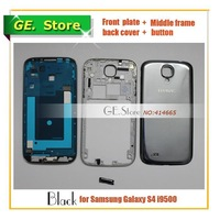 Black Original Replacement Full Housing For Samsung Galaxy S4 i9500 Repair Parts Front housing+Middle Frame+Back Cover+button
