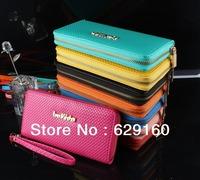 Ladies fashion purses wholesale, copper single zipper purse, Ms. Long wallet purse money in hand