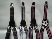 Free Shipping 1'' elastic kids brace/kids suspender/boys suspender with adjustable nickle free clips