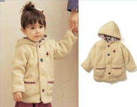Stock Wholesale Latest Design mild Winter Kids Long-sleeved Hooded Coat Boys Girls Plush Velvet Pocket Hooded Fashion Coat