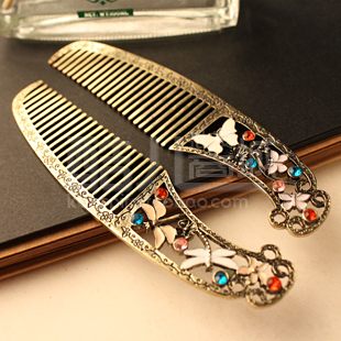(Min order is $10) E7036 fashion accessories dressing vintage retro butterfly finishing dragonfly comb hair(single price)(China (Mainland))