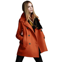 Fashion plus size women 2013 autumn and winter wool coat double breasted woolen outerwear