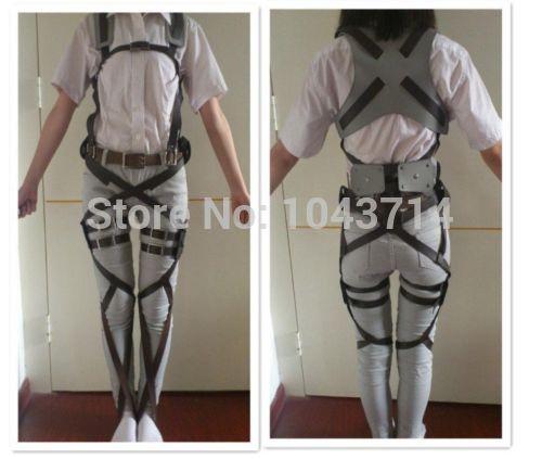 Anime Cos Cosplay Attack on Titan Shingeki no Kyojin Recon Corps Harness belt hookshot Costume Halloween Party Adjustable Belts(China (Mainland))