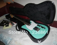 Free shipping ! tele guitar High Quality tele guitar telecaster Light green electric Guitar with case