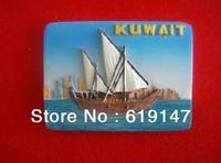 Free Shipping World Tourism Memorial Souvenir Gift Handmade Fridge Magnet Kuwait City Fridge Magnetic Memo Holder