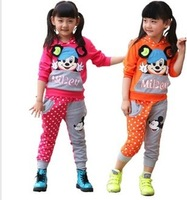 Free shipping Korean version of children's sports suit long sleeve baby clothes