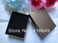 Wholesale 24pcs/lot Black sponge Jewelry Display Paper gift Box Earrings Ring Box 7x9CM,Free Shipping
