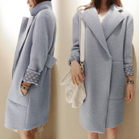 2013 autumn and winter woolen outerwear loose mm plus size clothing casual wool coat