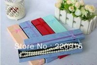 Hot sale! Multi colors Jewelry Box,Jewelry Sets Display Box Necklace Bracelet Box 21*4*2 cm Packing Gift Box A121