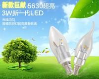 wholesale free shpping hight power 10pcs/lot  e14/e27 5730SMD 6W led candle light bulbs 540LM 220V glass cover LED lighting