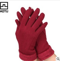 Ms. Warm winter gloves may touchscreen Glove Outdoor windproof thick warm gloves Women