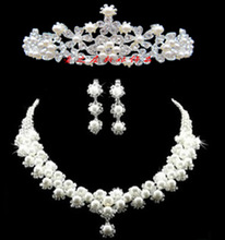 The bride accessories hair accessory hair accessory necklace earrings set accessories marriage accessories