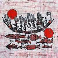Waxprinting decoration cloth mural waxprinting