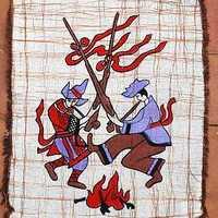 National trend tablecloth batik table cloth decoration cloth valance lusheng