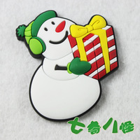 MOQ 5PCS Christmas 4 refrigerator stickers magnets christmas gift christmas snowman
