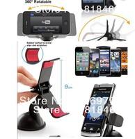 free shipping  2pcs/lot phone holder for car 360 Degree Rotating Car Sucker Mount Bracket Holder Stand Universal for Phone GPS