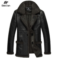 Bekvan luxurious sheepskin fur one piece fur male medium-long genuine leather clothing 2508