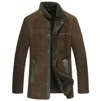 Winterisation male stand collar medium-long fur one piece genuine leather clothing leather clothing male luxury 2556
