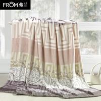 Ferlan coral fleece blanket home textile thickening velveteen blanket flange fleece blanket