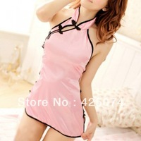 Free Shipping 10 pcs Night Dress Lingerie Babydoll Underwear Lingerie Nightwear Sexy Cheongsam