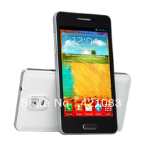 "F9002 Mini N9000 Dual Core MTK6572 1.2Ghz Android 4.2 512MB+4GB 4.3"" 3.0MP Camera Dual SIM WiFi GPS 3G Cell Phone"