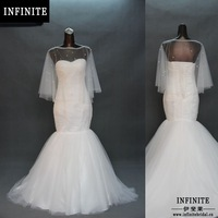Suzhou INFINITE factory design 100% real sample cheap mermaid wedding dress