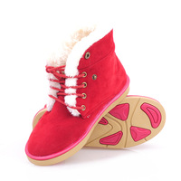 Thermal winter fashion snow boots platform boots street women's shoes lacing classic boots cotton boots