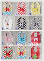Hot Sale Cotton Baby Unisex Bibs Infant and Toddler Chevron Saliva Towel Kids Dots Burp Clothes 6pieces/lot Free Shipping