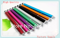 free shipping!!Mix color Capacitive screen Metal stylus touch pen with clip for iphone3G 3GS 4 4S/iPad/iPod touch