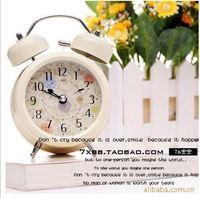 Free shippping South Korea 3 inch metal paint mute electronic bell ring mini alarm clock