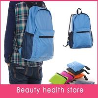 Free shipping 10pcs/lot Outdoor mountaineering bag portable folding bag backpack gift bag bag bag foldable bag