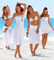 Free Shipping Fashion Multiple Wear sexy Bikini dress swimsuit Cover Up Beach dress new fashion outside shirt tie 2014